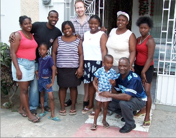 Noel and his family, July 2009
